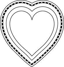 Small Picture Heart Shape Template