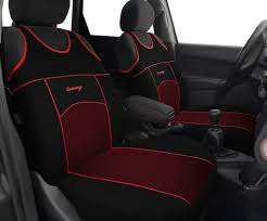 2 black red pattern front car seat covers protectors for ford focus zetec