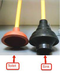 sink plunger vs toilet plunger
