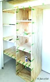 lovely adding shelves to a closet shelving ideas build in beautiful vibrant cost install shelf and