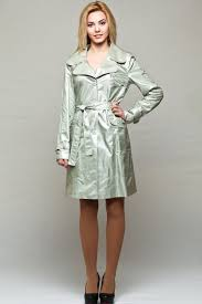 silver trench coat womens raincoat spring jacket with belt