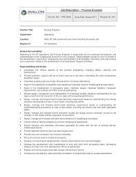 Free Process Engineer Job Description Templates At