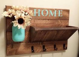 decorative wall mounted key holder key holder rustic home decor key rack  home sign mail holder