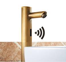 antique brass faucet. Bonnie Hands Free Touchless Antique Brass Bathroom Sink Faucet With Motion Sensor 1 H