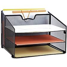 desk file organizer.  Desk ProAid Mesh Office Desktop Accessories Organizer Desk File Organizer With  3 Paper Trays And 1 To L