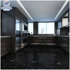 black marble floor tiles. 600x600 Kajaria Vitrified House Bathroom Bedroom New Model Black Glossy Glazed Polished Marble Flooring Tiles Price Floor W