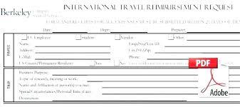 Expense Reimbursement Form Templates Travel Expense Form Template