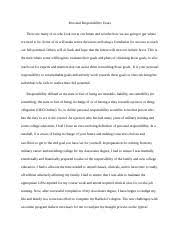 personal responsiblity essay thesis statement personal 4 pages personal responsibility essay final draft