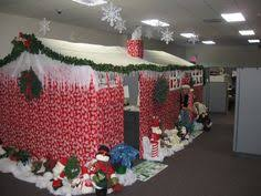 christmas decoration office. Simple Office Alluring Hut Made With Paper For Office Christmas Decoration Contest In C