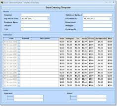 Free Travel Expense Report Template Excel Expense Report Template