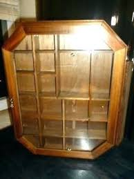 vintage wood glass curio cabinet shadow box miniature display shelf collectible case for miniatures shadowbox shelves