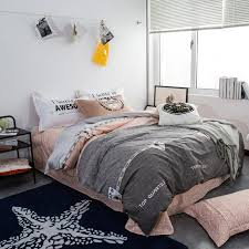 ARNIGU simple style Grey bedding set Twin Queen Double size Cotton ... & ARNIGU simple style Grey bedding set Twin Queen Double size Cotton  bedclothes Quilt/Blanket/ Adamdwight.com