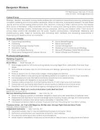 F And B Manager Sample Resume Retail Worker Sample Resume Help
