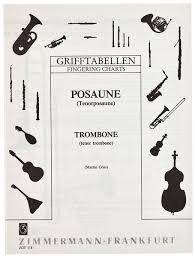 Zimmermann Verlag Fingering Chart Trombone