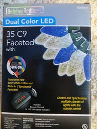 Holiday Brilliant Lights Remote Holiday Brilliant Dual Color Led 35 C9 Faceted With Color Switch Includes Remote