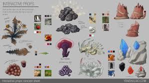 Design Sheet Art Artstation Environment Concept Design Lootable Items