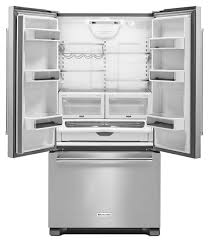 French Door 22 cubic foot french door refrigerator pictures : KitchenAid Stainless French Door Refrigerator- KRFC302ESS