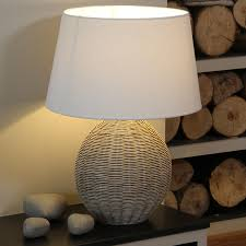 surprising wicker table lamps vintage wicker lamps round wicker table lamp with white shade