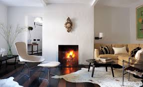Modern Decorating For Living Rooms Living Room Dark Brown Wooden Flooring Gray Sofa Fireplace Ideas