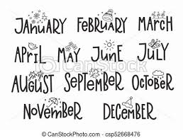 The Year Calendar Months Year Calendar Lettering Typography Months Of The New Year