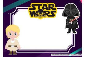 Free Printable Star Wars Invitation Templates Cute Version