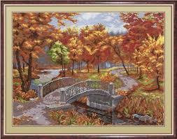 <b>Набор для вышивания МП</b> Студия НВ-266 Осенний парк ...