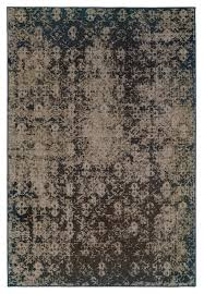 oriental weavers revival grey black oriental 216e2 area rug contemporary area rugs by arearugs