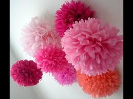 Paper Puff Ball Decorations Awesome How To Make Pom Pom Flower With Crepe Paper In Just 32mins YouTube