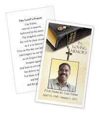 Funeral Programs Samples Impressive Memorial Prayer Cards Funeral Prayer Card