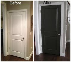 painting interior doors black before and after door my
