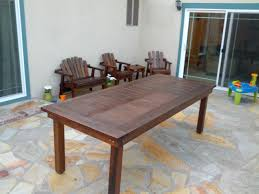 apartments ana white oversized redwood heavy duty outdoor dining table diy redwood coffee table