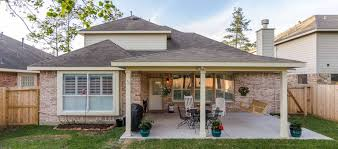 hip roof patio cover in cypress tx