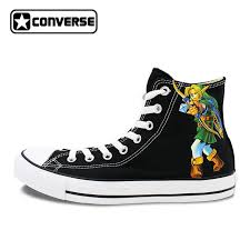 converse shoes high tops for girls. boys girls converse chuck taylor black sneakers the legend of zelda design hand painted high top shoes tops for