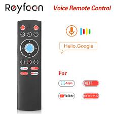 T1 Thoại Điều Khiển Từ Xa 2.4G Chuột G10 Con Quay Hồi Chuyển Cho Google Cầu  Thủ Youtube Tx6 T95 Max Q Plus X88 pro A95X F2 H96 MAX Tv Box Remote  Controls