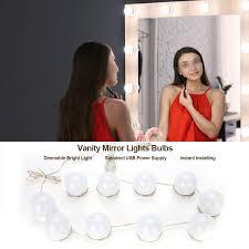 <b>Makeup Mirror</b> 10 <b>LED Makeup Vanity Mirror Lights</b> Bulbs Dimmable ...