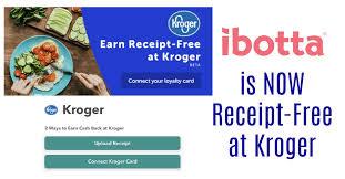 ibotta kroger is now receipt free