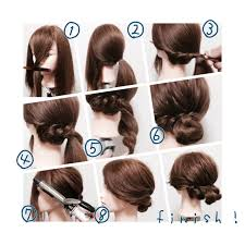 オフィスでも大活躍のヘアアレンジミディアムヘアの簡単まとめ髪集
