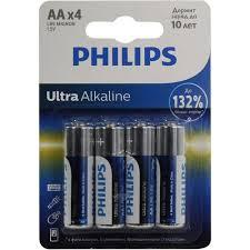 <b>Батарейки AA PHILIPS</b> Ultra Alkaline LR6E4B / 51 <b>4</b> шт. — купить ...