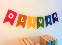 felt rainbow kids name banner birthday