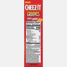 cheez it grooves baked snack ers original 12 oz walmart