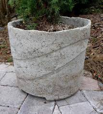 planters how to make large concrete planters at home lightweight and durable oval shape big