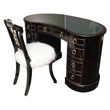 custom standing desk kidney shaped mid. kidney shaped tooled leather top sligh lowry desk and chair 1 custom standing mid