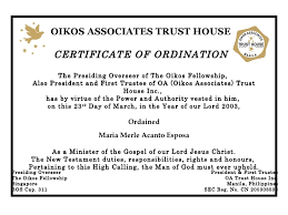 Ordination Certificate Template Free Ordination Certificate Template Rome Fontanacountryinn Com