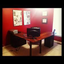 office furniture desk vintage chocolate varnished. Most Seen Images In The Splendid Design Ideas Of DIY L Shaped Desk Gallery.  Furniture. Office Furniture Desk Vintage Chocolate Varnished