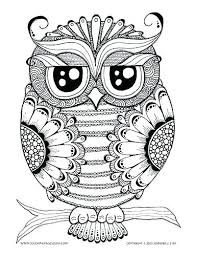 Stress Relief Colouring Pages Owl Colouring Pages Coloring Page For