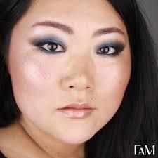 maquillage bleu coloré aqua blue summer look for asian monolid eyes makeup tutorial futilitiesandmore futilities and