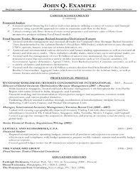 Sample Finance Resume Finance Resume Sample Sample Resume Of Finance ...
