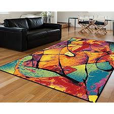 colorful rugs. Universal Rugs Lyric Contemporary Abstract Multi-Color Rectangle Area Rug, 8\u0027 X 11\u0027 Colorful L