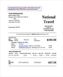 14 Travel Invoices Free Word Pdf Format Download