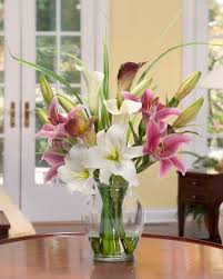 Silk Arrangements For Home Decor Magnolias Orchids Silk Flower Arrangement Office And Home Decor